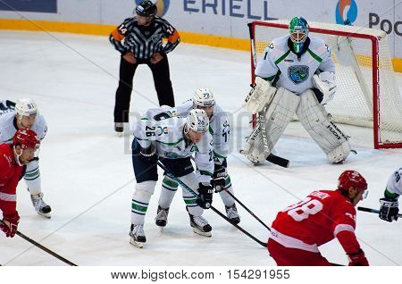K. Panov (26) And G. Zheldakov (72) On Faceoff