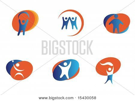 Vector version.  Isolated people signs and symbols. Jpeg version also available
