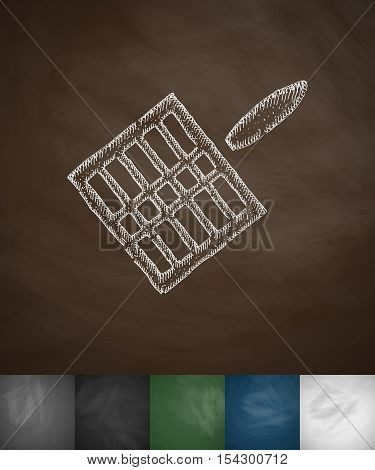gridiron icon. Hand drawn vector illustration. Chalkboard Design