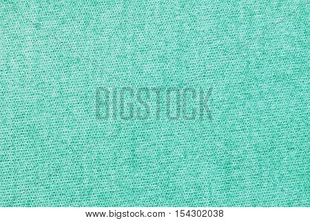 Turquoise knitwear fabric texture background. Close up