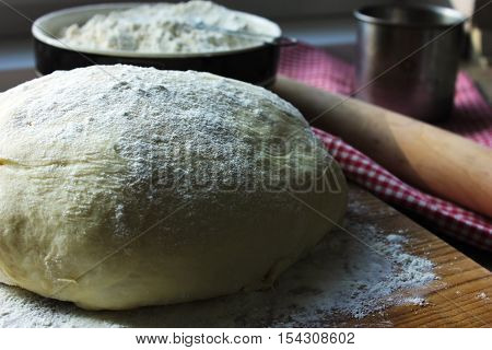 yeast dough for baking batter, bread, flour, yeast, baked,