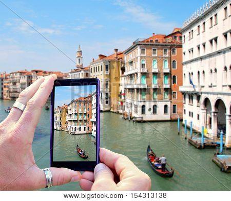 Taking Photo Of Venice