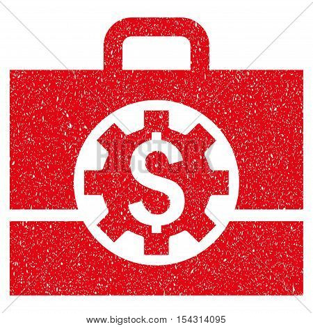 Bank Career Options grainy textured icon for overlay watermark stamps. Flat symbol with unclean texture. Dotted vector red ink rubber seal stamp with grunge design on a white background.