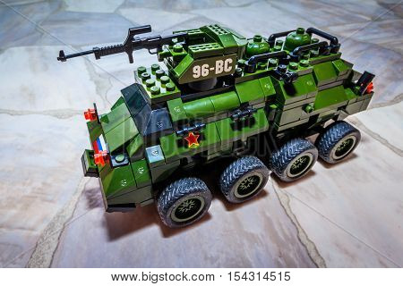 military green toys collected from children's designer