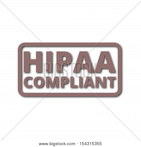 HIPAA badge - Health Insurance Portability and Accountability Act icon