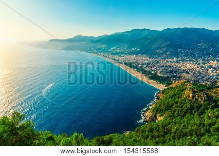 View On City Beach In Alanya
