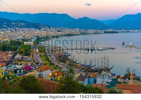 View Of Alanya's City And Port