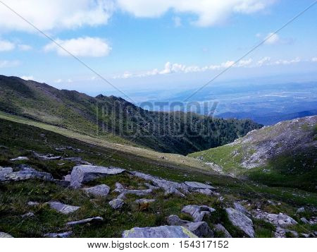 A green mountain landscape from Romanian mountains