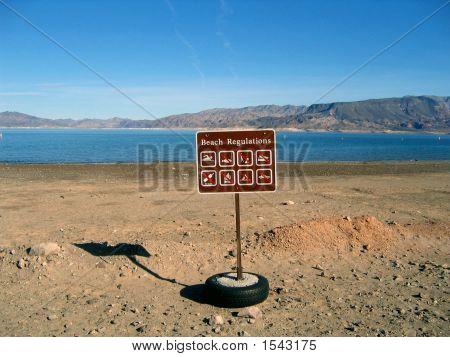 Beach Regulations Sign