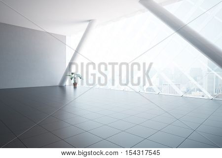 Unfurnished Interior With Plant Side