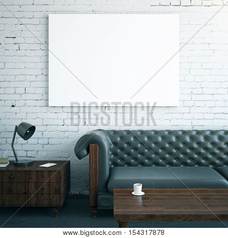 Interior With Whiteboard And Furniture