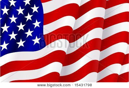 Jpeg version. Flag of USA for design as a background or texture. Vector version is also available