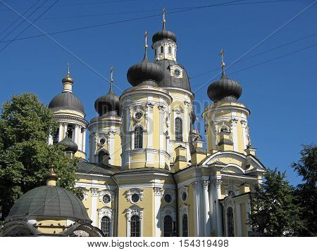 Vladimir Cathedral in Saint Petersburg. St. Vladimir's Cathedral in St. Petersburg. Temple. Architectural monument. Russia.