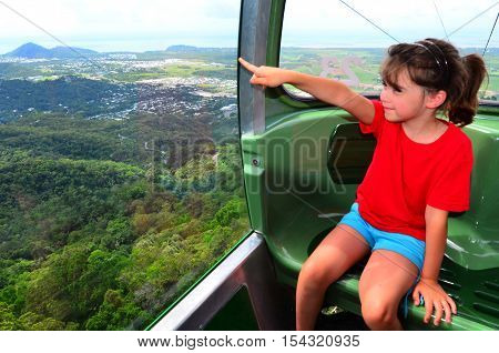Skyrail Rainforest Cableway Above Barron Gorge National Park Queensland Australia
