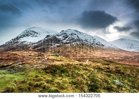 Beautiful View Of The Glencoe In Winter