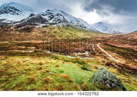 Glencoe in Winter Highland Scotland in winter