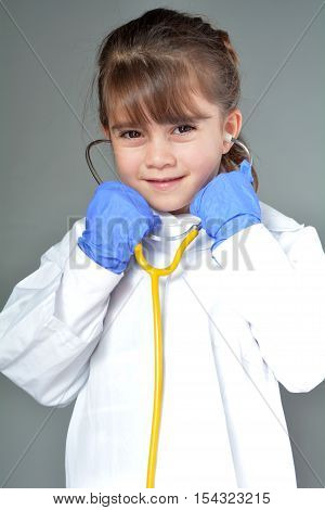 Little Child Who Wants To Be A Medical Doctor