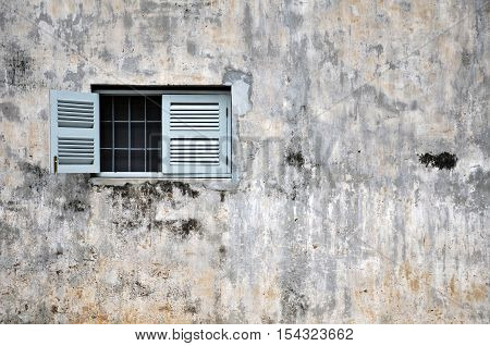 Vintage window on a old building in Cambodia