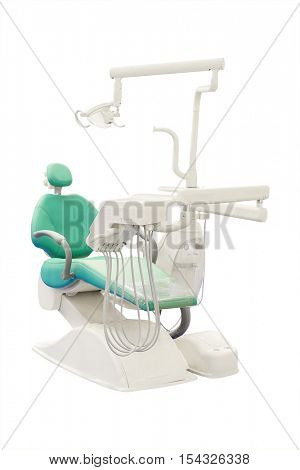 The image of a stomatologic chair isolated under the white background