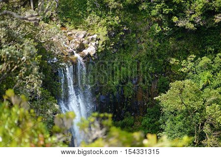Scenic Alexandra Falls In Jungle Of Mauritius