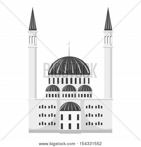 Synagogue icon. Gray monochrome illustration of synagogue vector icon for web