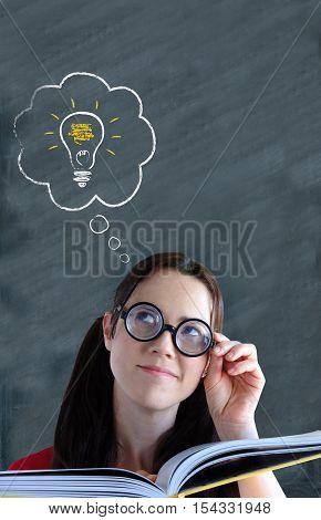 Geeky Woman Having An Idea