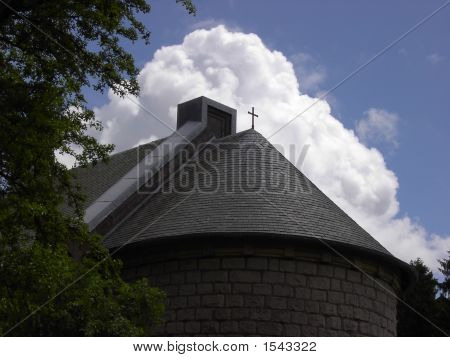 Church In Verdun Cemetery, France