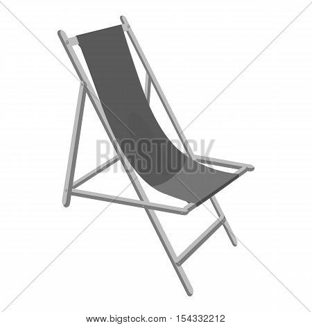 Lounger icon. Gray monochrome illustration of lounger vector icon for web