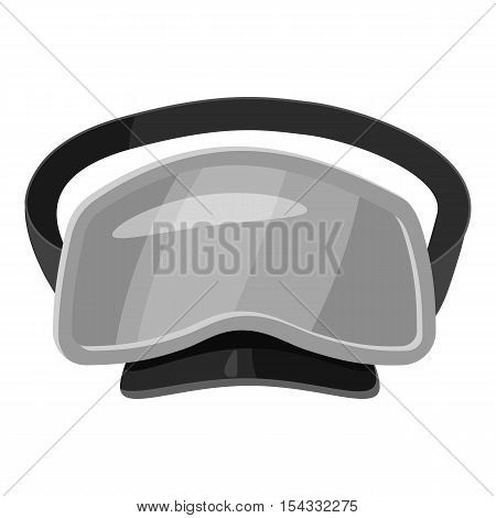 Dive mask icon. Gray monochrome illustration of dive mask vector icon for web