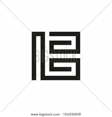 Unusual geometric letter B. Architecture vector logo. Isolated monogram