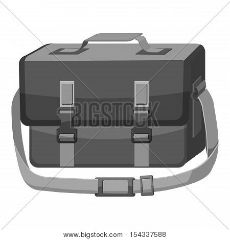 Bag for camera icon. Gray monochrome illustration of bag for camera vector icon for web