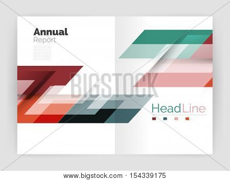 Modern line design, motion concept. Business annual report brochure template. Vector
