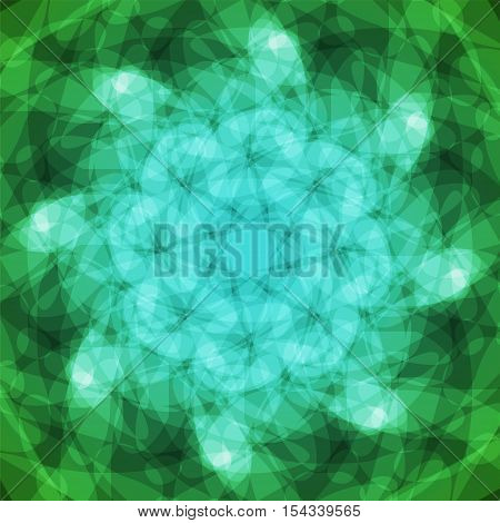 abstract vector spotted background - green and blue
