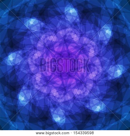 abstract vector spotted background - blue and violet