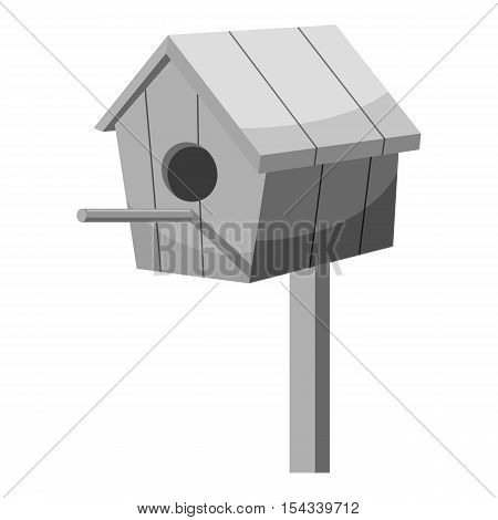 Nesting box icon. Gray monochrome illustration of nesting box vector icon for web