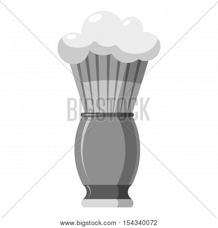 Shaving brush icon. Gray monochrome illustration of shaving brush vector icon for web