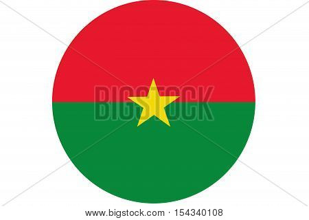 Burkina Faso flag ,Burkina Faso national flag illustration symbol.Circle flag illustration design
