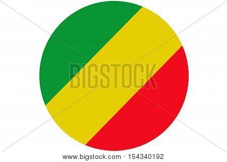 Republic of the congo flag ,Congo national flag illustration symbol.Circle flag illustration design