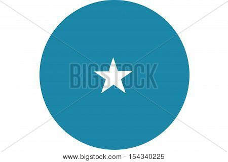 Somalia flag ,Somalia national flag illustration symbol.Circle flag illustration design