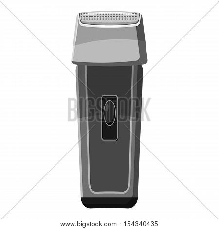 Hair clipper icon. Gray monochrome illustration of hair clipper vector icon for web