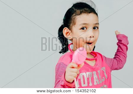 healthcare medical exam people children and medicine concept with stethoscope