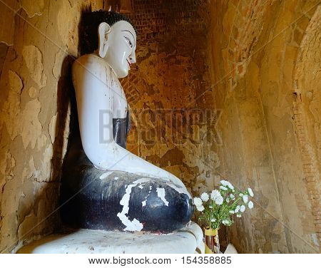 Buddha Statue At The Temple In Bagan, Myanmar