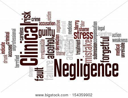 Clinical Negligence, Word Cloud Concept 4