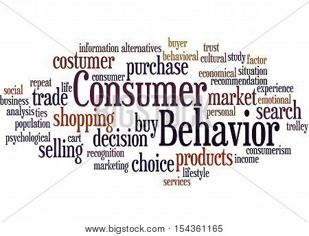 Consumer Behavior, Word Cloud Concept 8