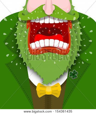 Leprechaun Shout. Angry Dwarf Shout. Scary Gnome Green Beard Shouts. Grandfather In Green Coat. Open