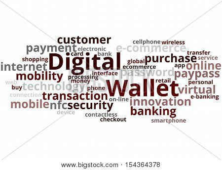Digital Wallet, Word Cloud Concept 4