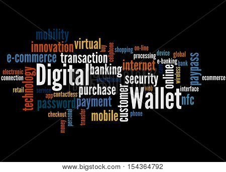 Digital Wallet, Word Cloud Concept 7