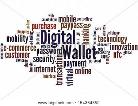 Digital Wallet, Word Cloud Concept 8
