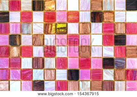 Ceramic tiles. Beige mosaic ceramic tiles for kitchen or bathroom wall or floor.