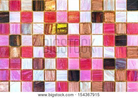 Ceramic tiles. Beige mosaic ceramic tiles for kitchen or bathroom wall or floor.